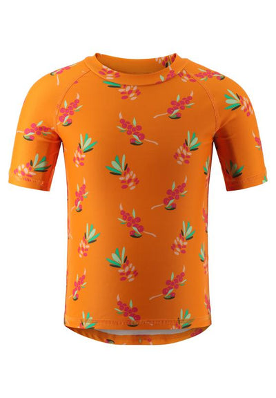 Sun-proof Swim Shirt Rash Guard With Longer Hem At The Back - Azores
