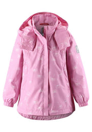 Kids' pink mid-season jacket Saltvik