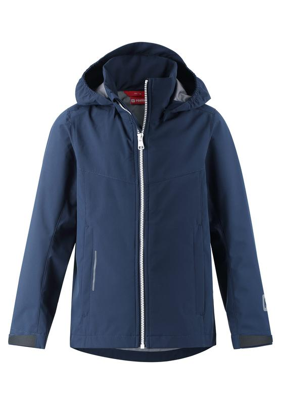 Kids' blue shell jacket Briknas