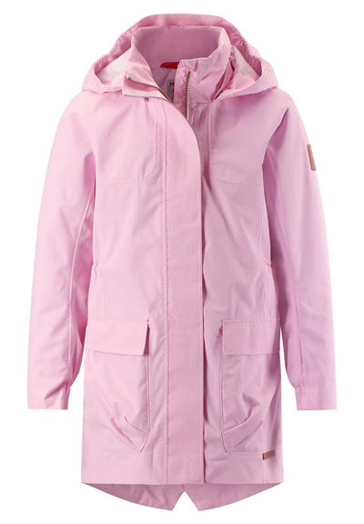 Kids' pink mid-season parka jacket Boe