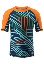 Boys Short-Sleeve Swim Shirt Rash Guard With UPF 50+ Protection - Fiji