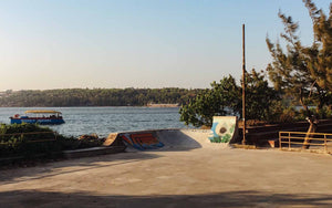 Youth hostel skatepark in goa