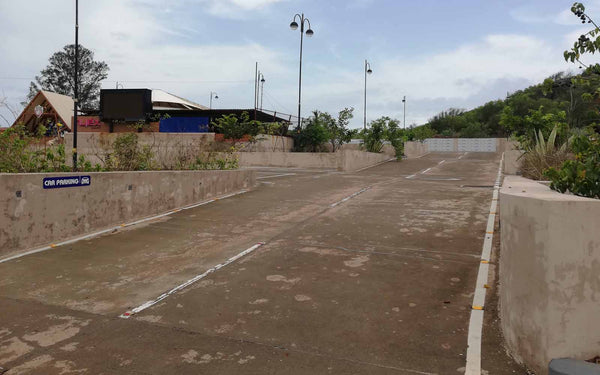 Anjuna parking lot skatespot Goa view 1