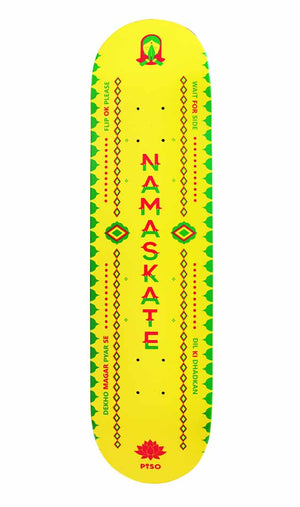 Bottom view of namaste deck