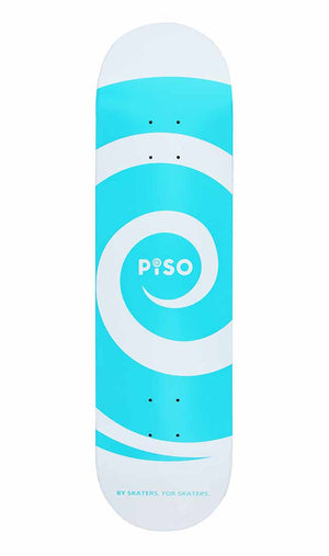 Bottom view of piso logo deck