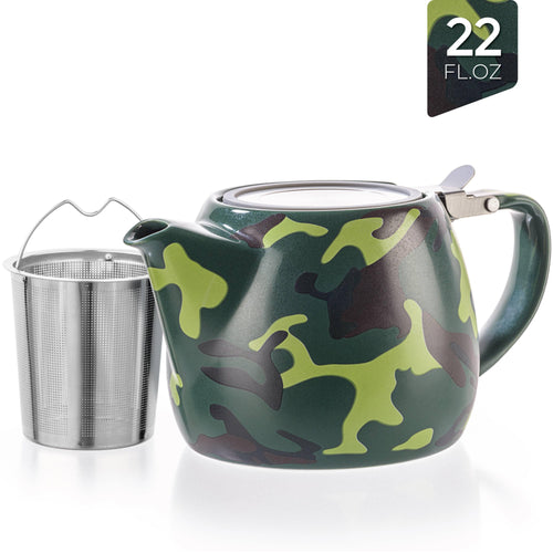 Military Porcelain Teapot With Infuser 22oz