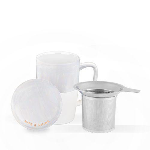 Delia™ Rise & Shine Tea Mug & Steeper by Pinky Up