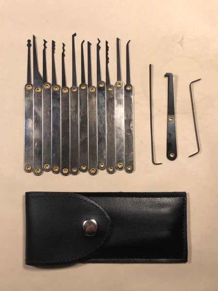 15 Piece Compact Lock Pick Set