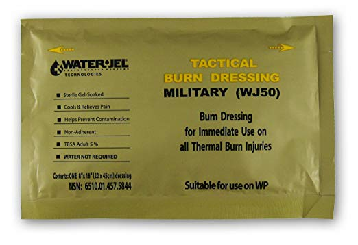 "Water Jel Tactical Burn Dressing 8"" x 18"" Large"