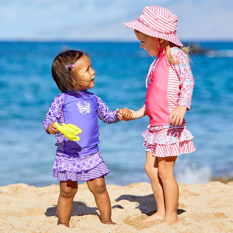 Children should wear UPF 50+ clothing whenever in the sun.