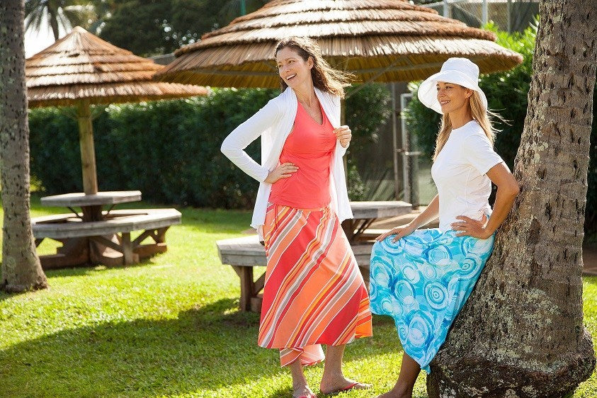 Wear UPF 50+ sun protective clothing.