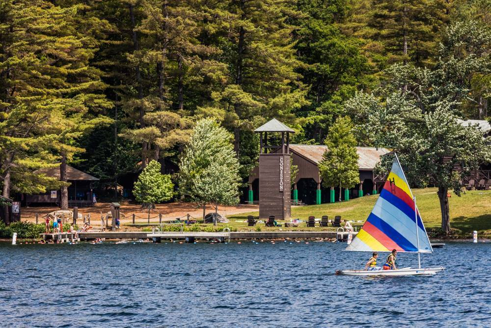 Camps such as this one in New Hampshire will offer activities for children all summer long.