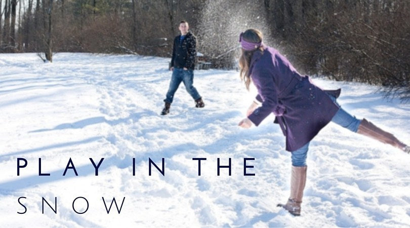 Outside Date Idea: Play in the snow!