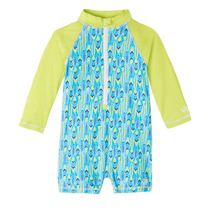 Baby Boy's Long Sleeve Swim Romper