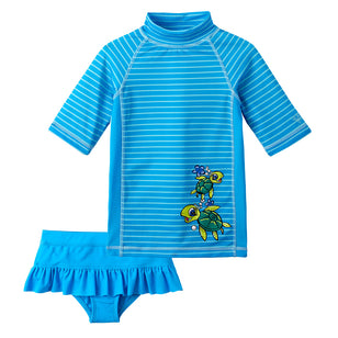 Girl's 2PC Pop Stripe Swim Set | FINAL SALE