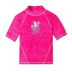 Girl's Short Sleeve Sport Sun & Swim Shirt