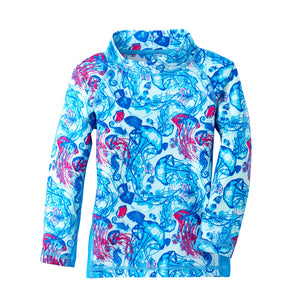 Girl's Long Sleeve Sunny Swim Shirt