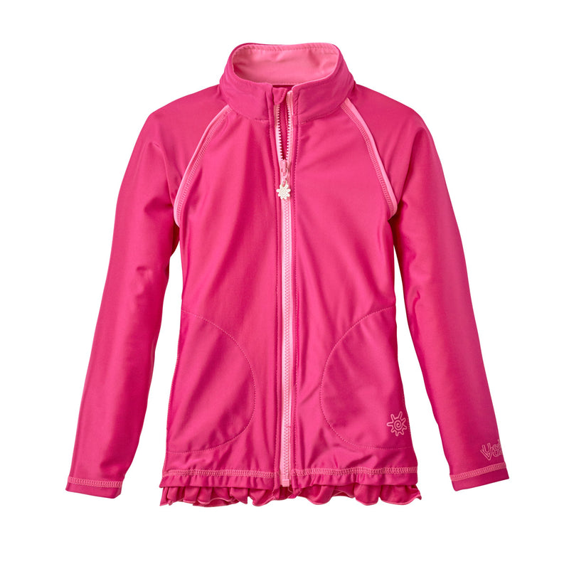 Girl's Full Zip Water Jacket