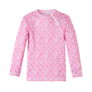 Girl's Zippy Long Sleeve Sun & Swim Shirt