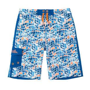 Boy's Racer Stripe Board Shorts