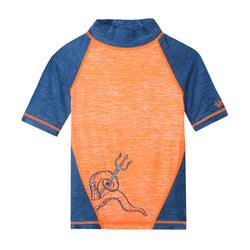 Boy's Short Sleeve Sport Sun & Swim Shirt