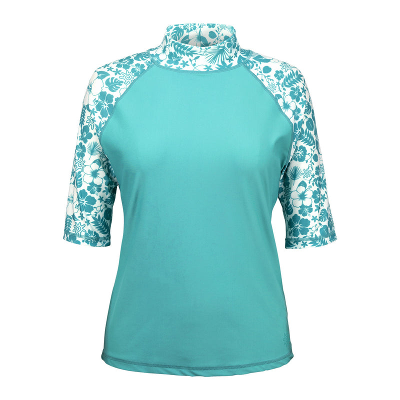 Women's Aloha Short Sleeve Sun & Swim Shirt