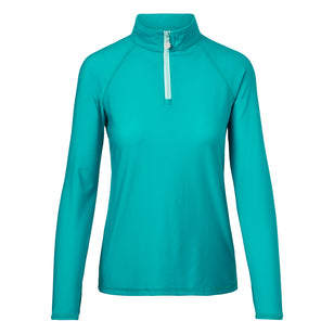 Women's Long Sleeve Quarter Zip Sun & Swim Shirt