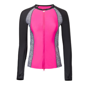 Women's Long Sleeve Full Zip Rashguard
