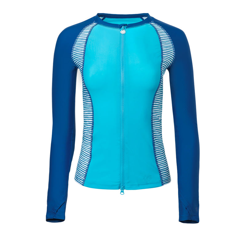 Women's Long Sleeve Full Zip Rashguard | FINAL SALE