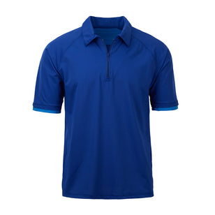 Men's Short Sleeve Half Zip Sun Shirt