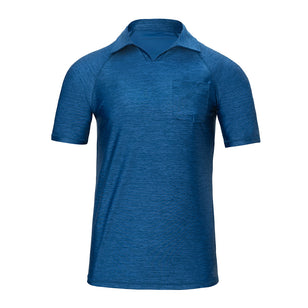 Men's V-Neck Short Sleeve Sun & Swim Shirt
