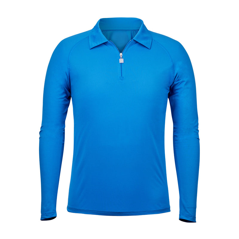 Men's Long Sleeve Half Zip Sun Shirt