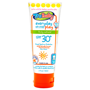 TruBaby Water & Play - Unscented Sunscreen - SPF 30+ (2oz)