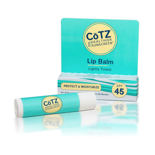 CoTZ Lip Balm - Lightly Tinted Sunscreen - SPF 45+ (0.14oz)