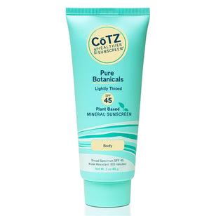 Cotz Pure Botanicals - Lightly Tinted Sunscreen - SPF 45+ (3oz)