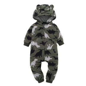 Baby Warm winter clothes fashion Infant Baby Boys Girls Thicker Print Hooded Camouflage Romper Jumpsuit Outfit Clothes