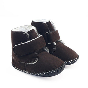 Baby Snow Booties Baby Moccasins with fur Soft Sole Newborn Boys Girls boots Prewalker Keep Warm Crib Shoes