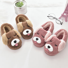 Children Casual Slippers Lovely Cartoon Warm Indoors Shoes
