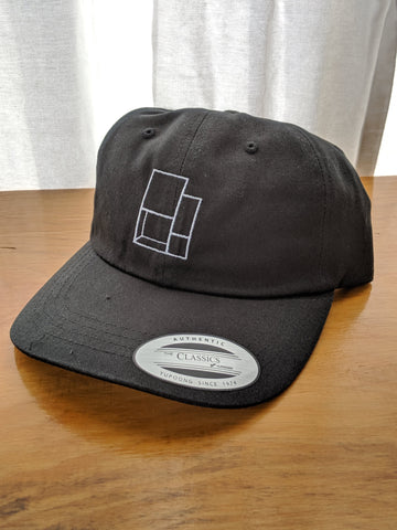 Salt Made Logo Cap - Low Profile Cotton Twill Black Adjustable - Yupoong