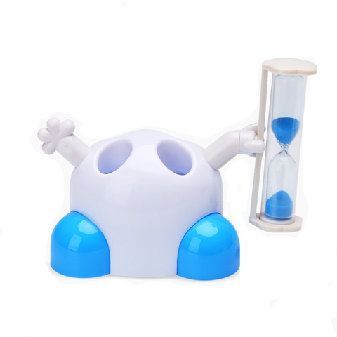 Toothbrush Holder with Hourglass