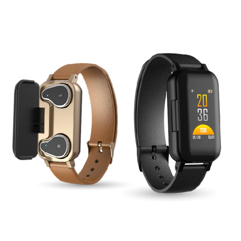 BraceBuds™ Smart Bracelet with Earbuds