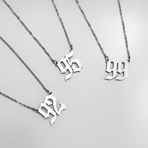 Birth Year necklace in Stainless Steel - Neckontheline