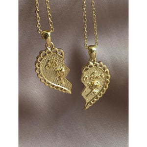 2 Piece Heart necklace - Neckontheline