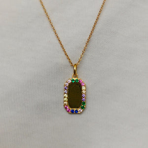 Rainbow Tag Necklace - Neckontheline