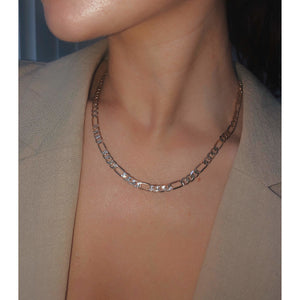 Chunky textured Figaro chain - Neckontheline