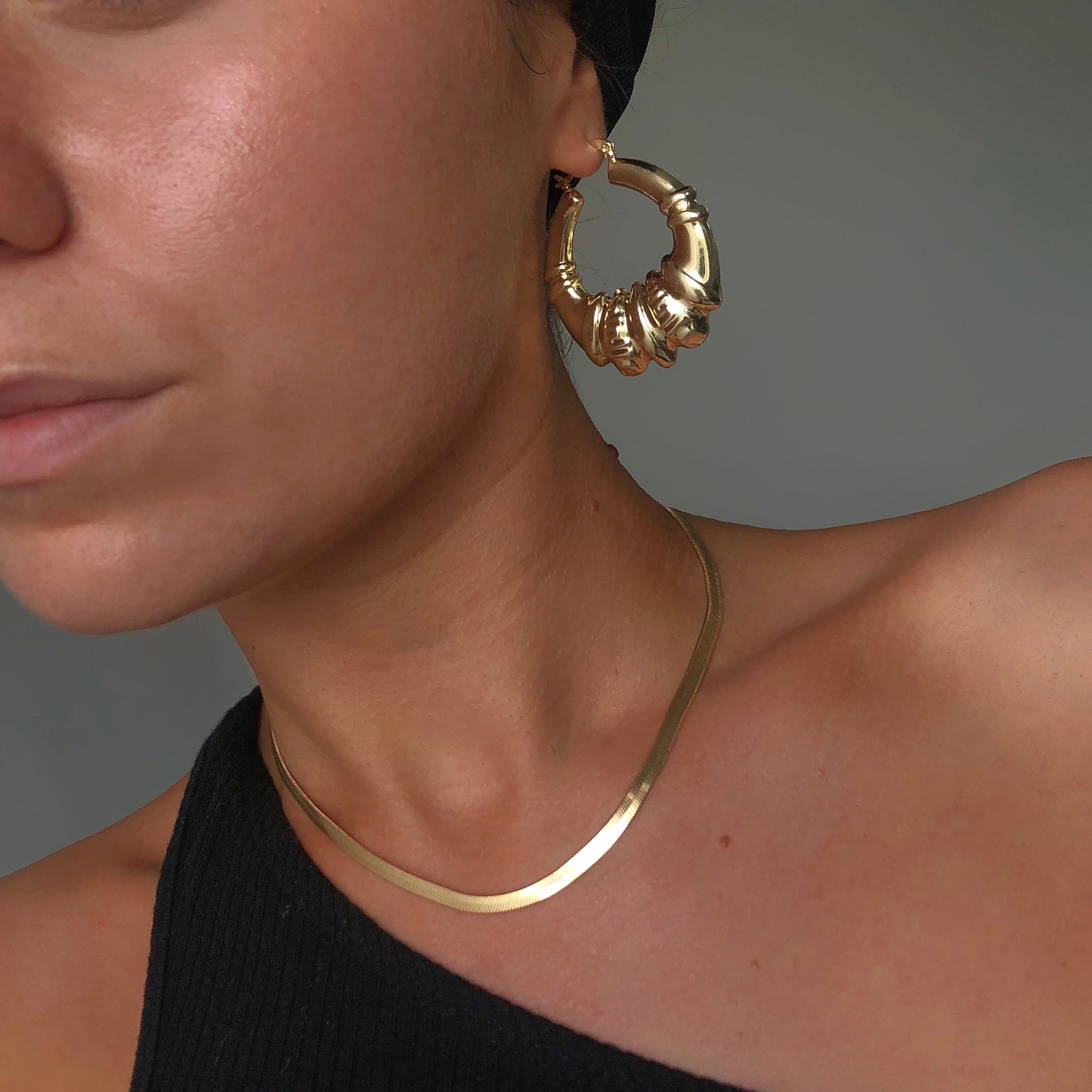 Gold filled herringbone chain - Neckontheline