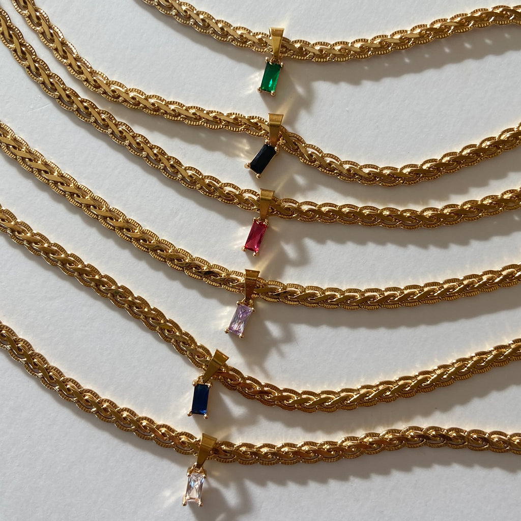Braided Luxe Chain with Jaipur charm