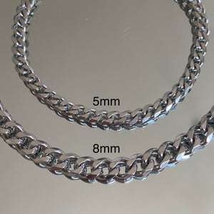 Curb Anklet stainless steel