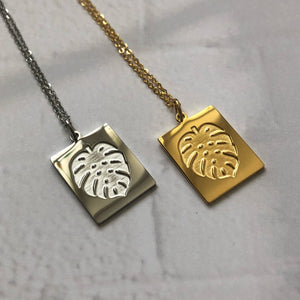 Monstera Leaf Necklace - Neckontheline