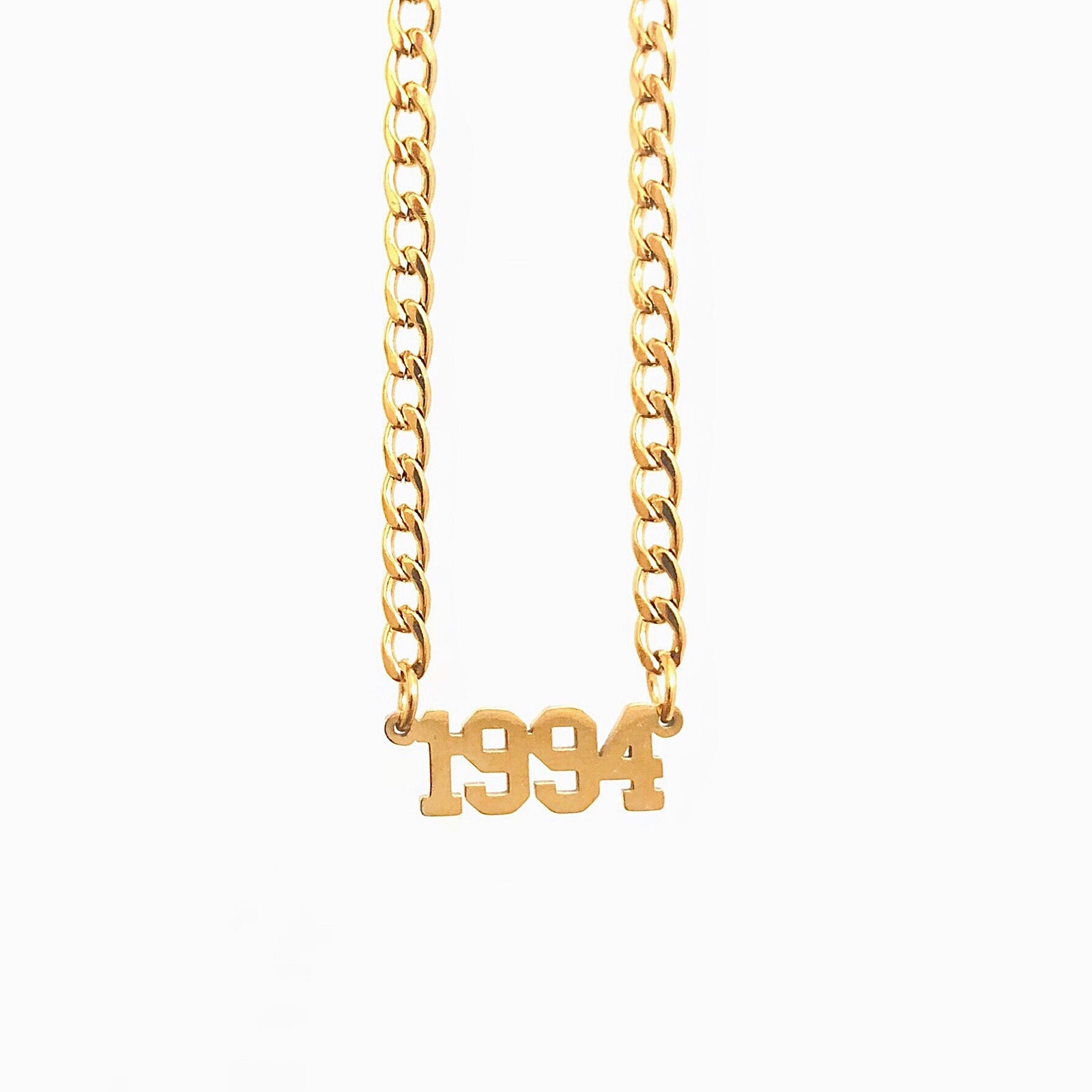 Birth Date Collar in Gold - Neckontheline